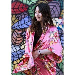Intimates & Sleepwear - Silky Floral Kimono Robe